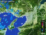2015年09月09日の大阪府の雨雲レーダー