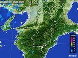 2015年09月09日の奈良県の雨雲レーダー