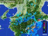 2015年09月10日の奈良県の雨雲レーダー