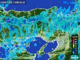 2015年09月16日の兵庫県の雨雲レーダー