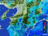 2015年09月16日の奈良県の雨雲レーダー