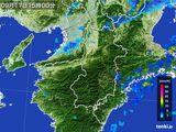 2015年09月17日の奈良県の雨雲レーダー