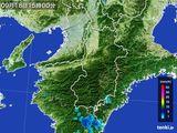 2015年09月18日の奈良県の雨雲レーダー