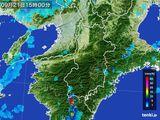 2015年09月21日の奈良県の雨雲レーダー