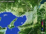 2015年09月23日の大阪府の雨雲レーダー