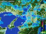 2015年09月24日の大阪府の雨雲レーダー