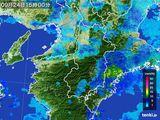 2015年09月24日の奈良県の雨雲レーダー