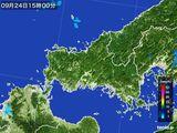 雨雲レーダー(2015年09月24日)