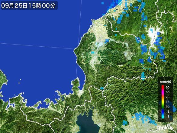 福井県の雨雲レーダー(2015年09月25日)