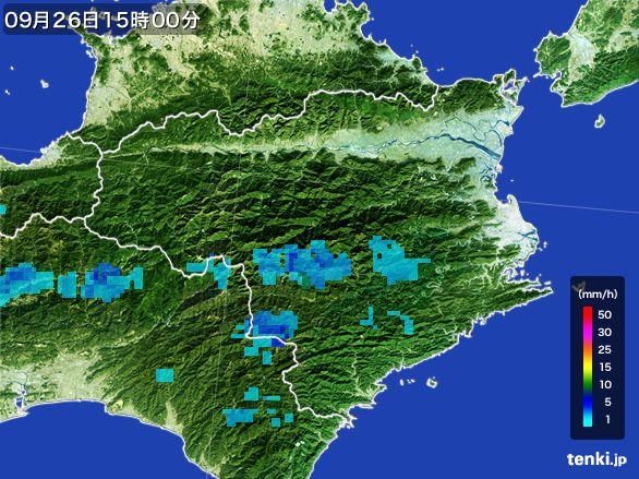 徳島県の雨雲レーダー(2015年09月26日)
