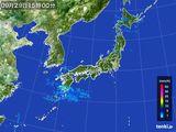 2015年09月29日の雨雲レーダー