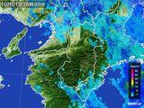 2015年10月01日の奈良県の雨雲レーダー