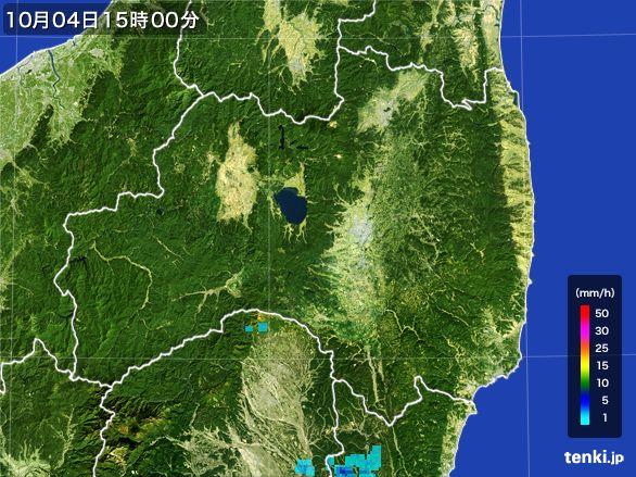 福島県の雨雲レーダー(2015年10月04日)