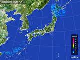 2015年10月08日の雨雲レーダー