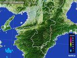 2015年11月01日の奈良県の雨雲レーダー