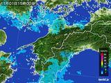 雨雲レーダー(2015年11月01日)
