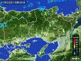 2015年11月02日の兵庫県の雨雲レーダー
