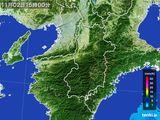 2015年11月02日の奈良県の雨雲レーダー