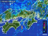 2015年11月08日の近畿地方の雨雲レーダー