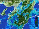 2015年11月09日の奈良県の雨雲レーダー