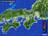 2015年11月10日の近畿地方の雨雲レーダー