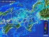2015年11月17日の近畿地方の雨雲レーダー