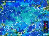 2015年11月17日の兵庫県の雨雲レーダー