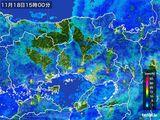 2015年11月18日の兵庫県の雨雲レーダー