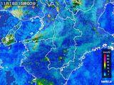 2015年11月18日の奈良県の雨雲レーダー