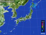 雨雲レーダー(2015年11月24日)