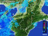 2015年11月25日の奈良県の雨雲レーダー