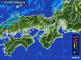 2015年11月26日の近畿地方の雨雲レーダー