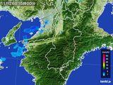 2015年11月26日の奈良県の雨雲レーダー