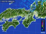 2015年11月27日の近畿地方の雨雲レーダー