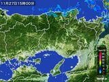 2015年11月27日の兵庫県の雨雲レーダー