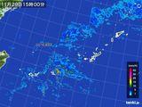 2015年11月29日の沖縄地方の雨雲レーダー