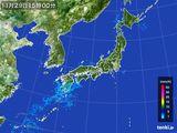 2015年11月29日の雨雲の動き