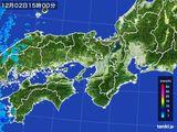 2015年12月02日の近畿地方の雨雲レーダー