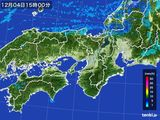 2015年12月04日の近畿地方の雨雲レーダー