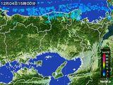 2015年12月04日の兵庫県の雨雲レーダー