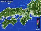 2015年12月05日の近畿地方の雨雲レーダー
