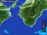 2015年12月06日の和歌山県の雨雲の動き