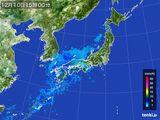 2015年12月10日の雨雲の動き