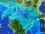 2015年12月10日の奈良県の雨雲レーダー