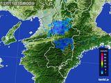 2015年12月11日の奈良県の雨雲レーダー