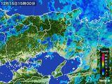 雨雲レーダー(2015年12月15日)