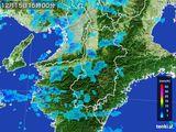 2015年12月15日の奈良県の雨雲レーダー