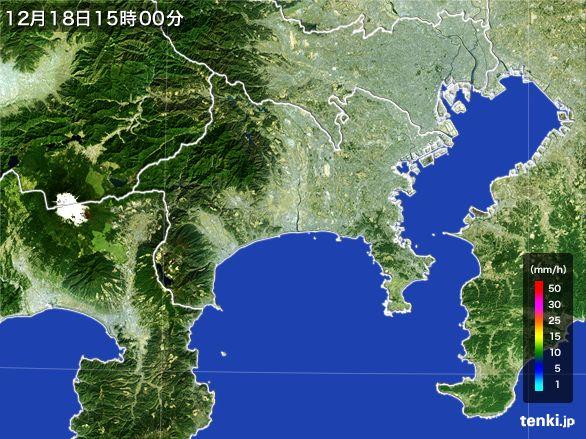 神奈川県の雨雲レーダー(2015年12月18日)