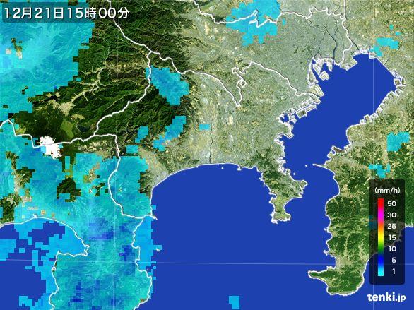 神奈川県の雨雲レーダー(2015年12月21日)