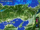 2015年12月21日の兵庫県の雨雲レーダー